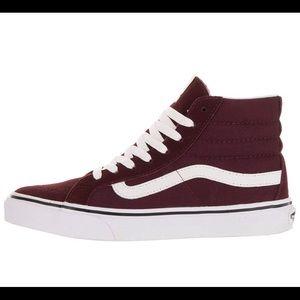 e27ae28007088e Vans · Unisex Sk8-Hi Slim Women s Windsor Wine Skate Shoe